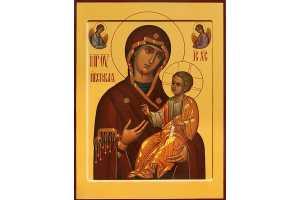Г. Х. Панайотов. Икона Божией Матери Иверская. 2020. Дерево, акрил, золото сусальное